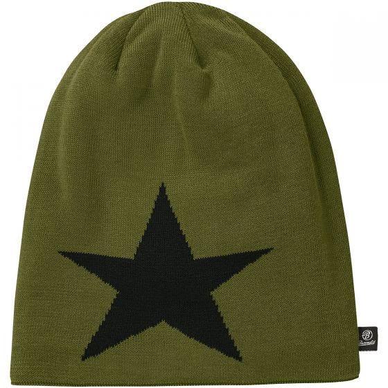 Лыжная Шапка Brandit Star - Оливковый