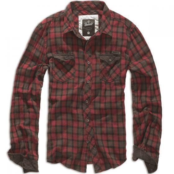 Клетчатая Рубашка Brandit Duncan - Красный/Коричневый