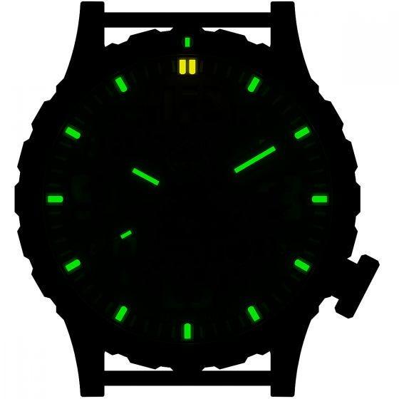 Часы из Титана с Тритиевой Подсветкой Hazard 4 Heavy Water Diver - Blacktie Зеленый/Желтый