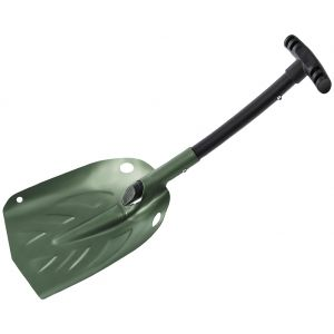Телескопическая Автомобильная Лопатка для Снега Mil-Tec Алюминиевая - Оливковый
