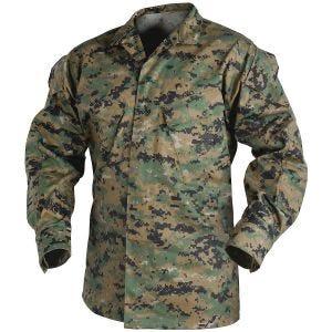 Рубашка Helikon USMC из Поликоттоновой Саржи - Digital Woodland