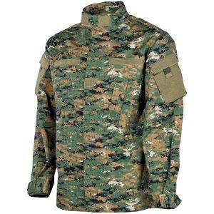 Полевая Куртка MFH ACU из Материала Ripstop Digital Woodland