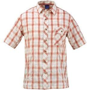 Рубашка на Пуговицах с Коротким Рукавом Propper Covert - Кирпично-Красная Клетка