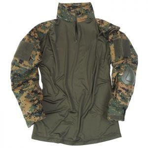 Рубашка Mil-Tec Warrior с Мягкими Налокотниками - Digital Woodland