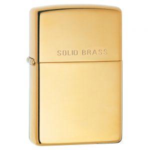 Зажигалка Zippo High Polish Brass Engraved - High Polish Brass